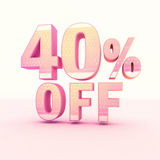 3D Rendering Pink and Yellow Color Percentage Royalty Free Stock Photography
