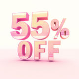 3D Rendering Pink and Yellow Color Percentage Stock Photos