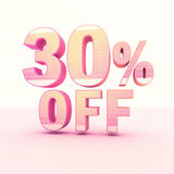 3D Rendering Pink and Yellow Color Percentage Royalty Free Stock Photo