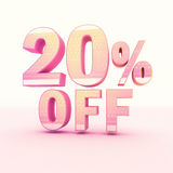 3D Rendering Pink and Yellow Color Percentage Royalty Free Stock Images