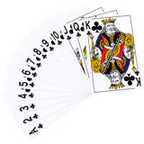 3d Rendering of Playing Cards - Club Suite. 3d Rendering of Playing Cards Royalty Free Stock Photos