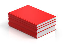 3D rendering red books Stock Image