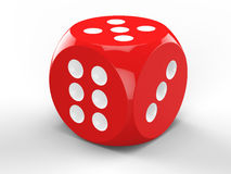 3D rendering of red dice Royalty Free Stock Photos