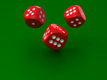 3D rendering of redl dices Royalty Free Stock Photo