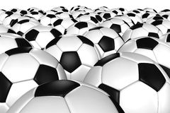 3D rendering of a soccer ball. Stock Images