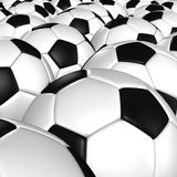 3D rendering of a soccer ball. Royalty Free Stock Images