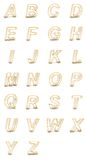 3D rendering of transparent alphabet. Royalty Free Stock Image