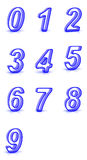 3D rendering of transparent numbers. Stock Photo