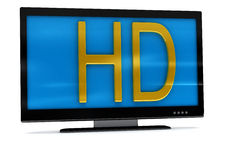 3D rendering of tv,lcd monitor on white. Background Royalty Free Stock Images