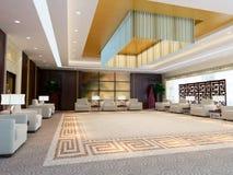 3d renderingu wielki recepcyjny pokój ilustracja wektor