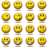 3D rendeu emoticons Fotografia de Stock Royalty Free