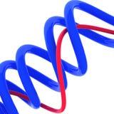 3d rendeu a ilustração de linhas abstratas azuis Foto de Stock Royalty Free