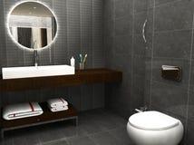 3D rendeu o banheiro Foto de Stock