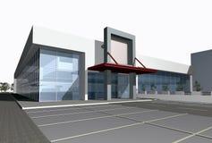 3D rendono del centro moderno di affari Fotografie Stock