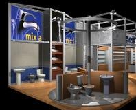 3D rendono del corridoio di mostra Immagine Stock Libera da Diritti