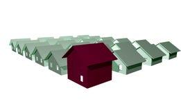 3D rendono delle case moderne Fotografie Stock Libere da Diritti