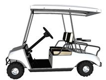 3D rendono il carrello di golf Immagine Stock