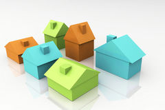 3D rendono il concetto del bene immobile Immagini Stock Libere da Diritti