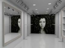 3D rendono l'interiore moderno del negozio Fotografie Stock Libere da Diritti