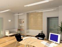3D rendono l'interiore moderno dell'ufficio Fotografia Stock