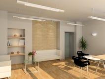 3D rendono l'interiore moderno dell'ufficio Fotografie Stock