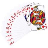 3d rendu des cartes de jeu - suite de diamant Image stock