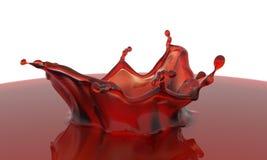3D a rendu l'éclaboussure rouge Images libres de droits