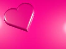 3d a rendu l'image stylisée du coeur rose de perle illustration libre de droits