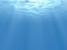 3d a rendu la vue sous-marine. Photographie stock