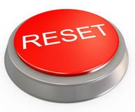 3d reset button Royalty Free Stock Photo