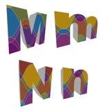 3D retro funky alfabetten Stock Fotografie