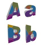 3D retro funky alphabets Stock Photo