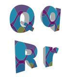 3D retro funky alphabets Royalty Free Stock Image