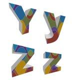 3D retro funky alphabets Royalty Free Stock Image