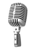 3d retro microphone. Isolated on white Stock Photos