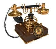 3d Retro Telephone Stock Photography