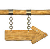 3d retro wooden arrows Stock Image
