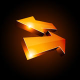 3d return arrows. Illustration off  3D return arrows Royalty Free Stock Photography