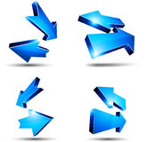 3d return arrows. Royalty Free Stock Photos