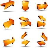 3d return arrows. Illustration of  3D return arrows Stock Photography