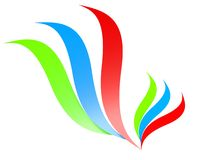 3d rgb feather icon. Colorful Stock Photography
