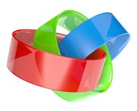 3d rgb rings icon Royalty Free Stock Images