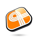 3D Ribbon Button Icon Royalty Free Stock Images