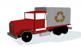 3d riciclano il camion Fotografia Stock Libera da Diritti
