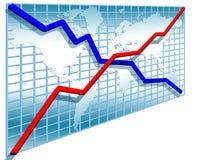 3d riga diagrammi Fotografia Stock