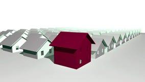 3D rinden de casas residenciales modernas Fotografía de archivo