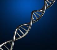 3D rinden de hilos de la DNA encendido Fotos de archivo libres de regalías