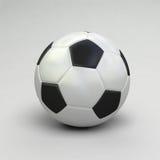 3D rinden de un balón de fútbol Imagen de archivo libre de regalías