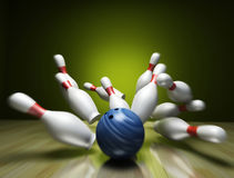 3d rinden de un bowling libre illustration