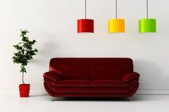 3d rinden de un diseño interior moderno. Imagenes de archivo